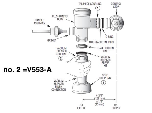 Vacuum Breaker Coupling Guide Parts